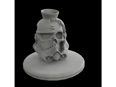 死骑兵笔筒-3d打印模型