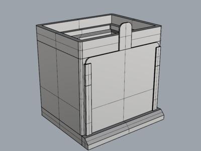 带侧盖的敞口箱-3d打印模型