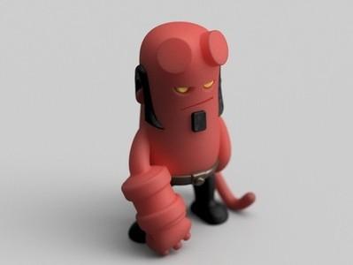 Q版 地狱男爵-3d打印模型