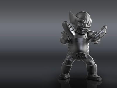 Q版 金刚狼-3d打印模型