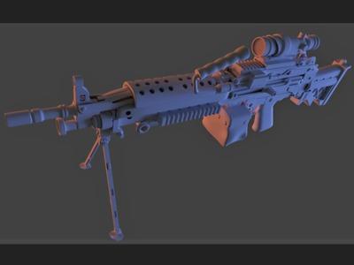 m249-3d打印模型