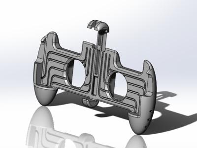 手机游戏散热手柄-3d打印模型