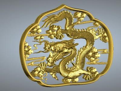 經典玉雕系列-魚龍盤繞-3d打印模型