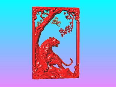 經典玉雕系列-上山虎-3d打印模型