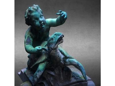 丘比特骑在乌龟上-3d打印模型