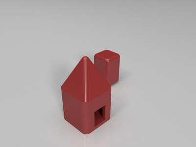小屋-3d打印模型