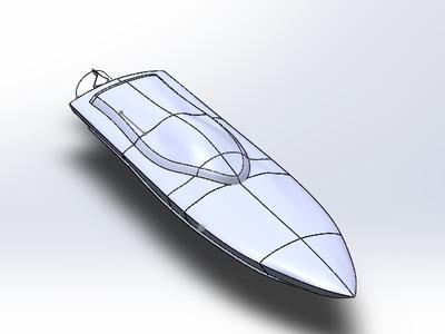 喷水推进的快艇-3d打印模型