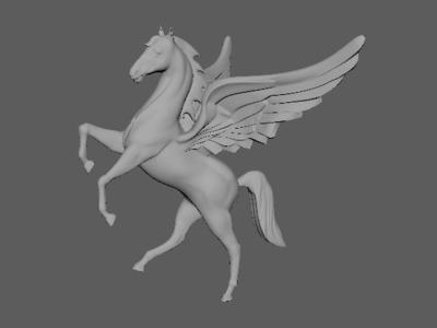 飞马-3d打印模型