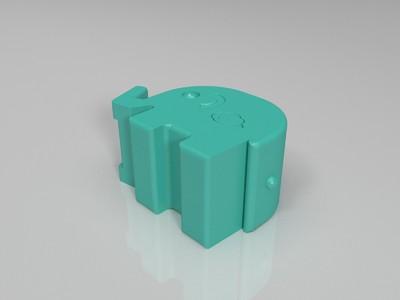 大象笔筒-3d打印模型