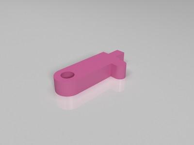 玩具枪用 hop-up 上旋压片 易损件-3d打印模型