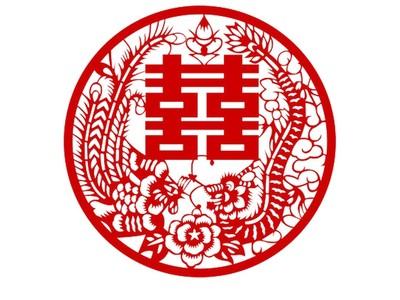 中國風剪紙藝術-打包五喜 1-3d打印模型