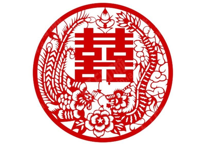 中国风剪纸艺术-打包五喜 1-3d打印模型