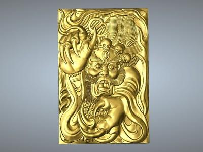 經典玉雕系列-鍾馗抓妖 2-3d打印模型