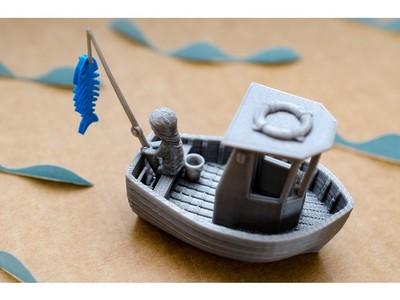 渔船-3d打印模型