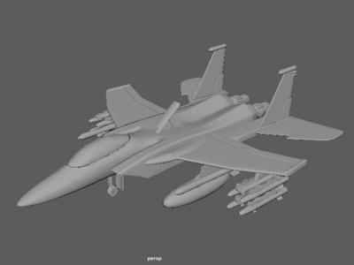 经典F12战斗机-3d打印模型