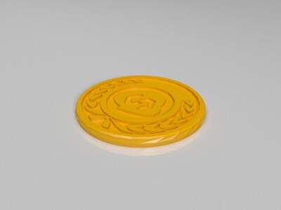 链克wkc币1-3d打印模型