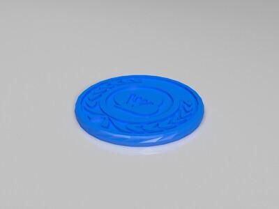 链克wkc币3-3d打印模型