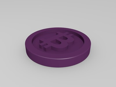 比特币/bitcoin 模型-3d打印模型