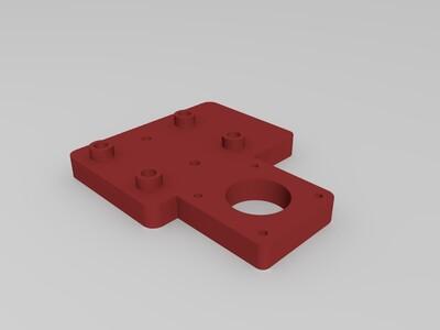 2020 带马达支架的滑台-3d打印模型