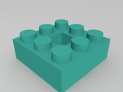 乐高模型-3d打印模型