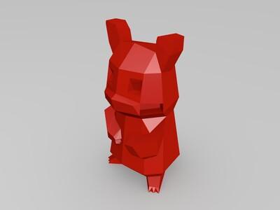 lowpoly皮卡丘拼装版-3d打印模型