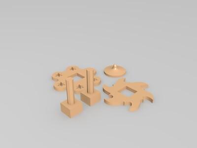 百变组装陀螺-3d打印模型