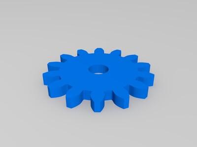 14齿齿轮-3d打印模型