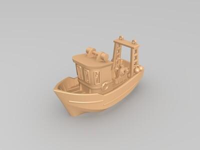 拖网渔船-3d打印模型