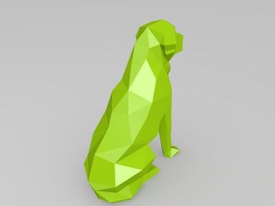几何体狗狗-3d打印模型