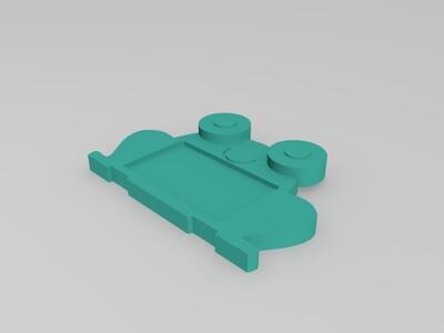 卡通相框--青蛙-3d打印模型