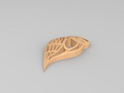 猫头鹰吊坠-3d打印模型