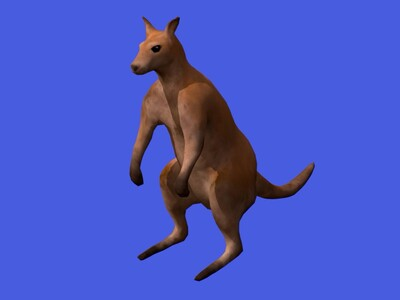 袋鼠-3d打印模型