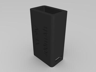 9V电池外壳-3d打印模型