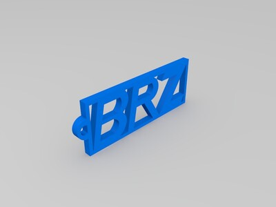 BRZ钥匙扣-3d打印模型