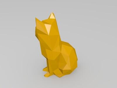 几何猫-3d打印模型