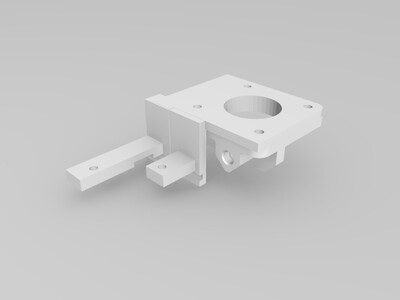 创想三维Ender-3s原机挤出改近程支架-3d打印模型