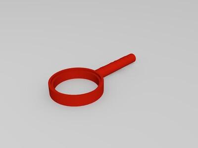 放大镜-3d打印模型