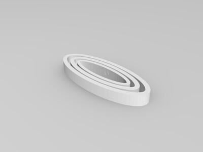 一体活动结构-3d打印模型