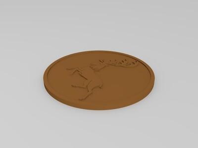 权利的游戏图腾徽章-3d打印模型