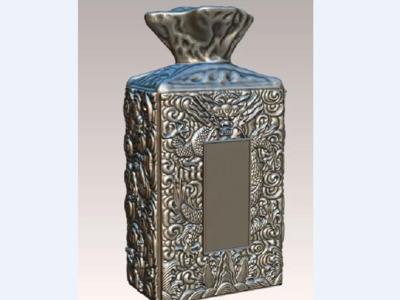 雕花酒瓶-3d打印模型