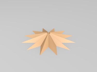 太阳花壁钟-3d打印模型