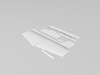 手掷拼装飞机模型-3d打印模型