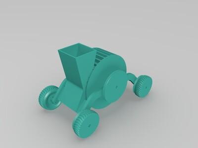 look高精度--无名车(可动)-3d打印模型