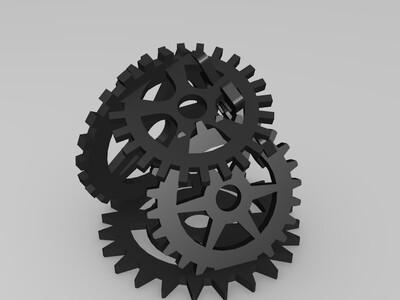 齿轮组合体-3d打印模型
