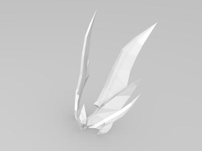 花木兰水晶猎龙者头饰-3d打印模型