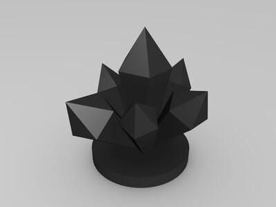 美丽水晶-3d打印模型
