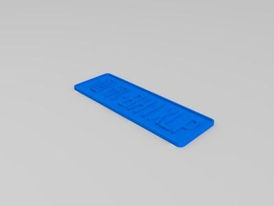 呼号牌-3d打印模型