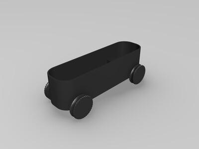 look高精度--橡皮车轮带槽(储能可动)-3d打印模型