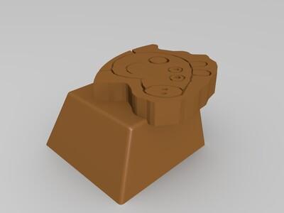 小猪佩奇阴刻键帽-3d打印模型