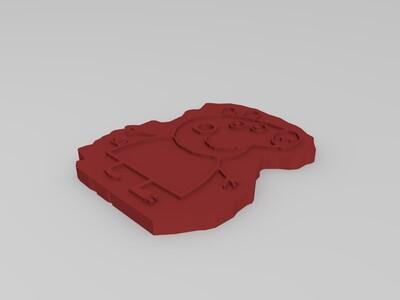 小猪佩奇阳刻玩具-3d打印模型